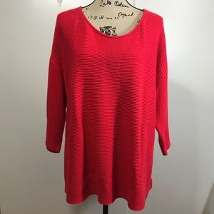Old Navy Oversized Boxy Red Sweater